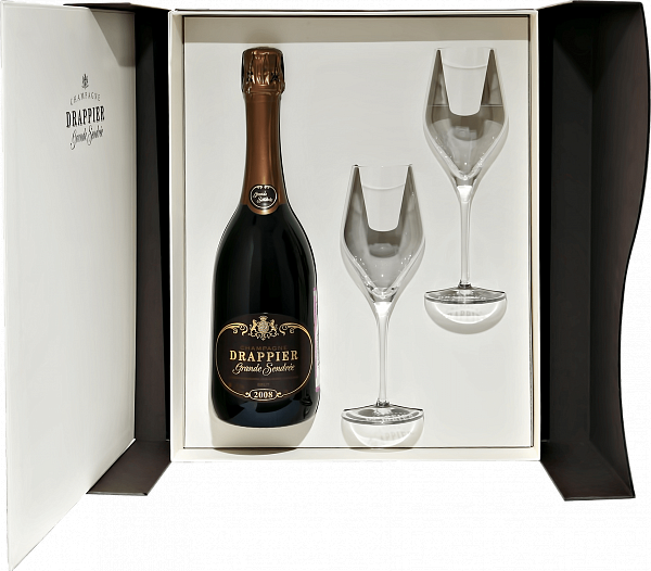"Drappier ""Grande Sendree"" (gift box with 2 glasses), 0.75л"